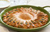 Zonnebloem spinazie taart
