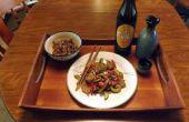 Roerbak rundvlees met komkommer, groene uien, & RED CHILI PEPPERS