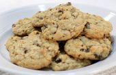 Gemakkelijk taai Oatmeal Rozijnen Cookies