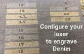 Je Laser om te graveren Denim Setup