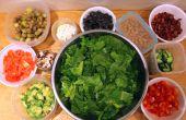 Maken van vooruit aangepaste salade Bar