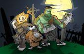 Halloween kerkhof Monsters