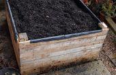 Bouwen van een verhoogd bed uit pallets