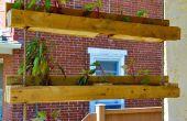 Pallet project geïnspireerd! Maken van de hangende tuinen van Pallet-op Planter