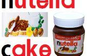 Chocolate Nutella Cake met Gelatine schimmel