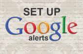Eenvoudige stappen voor het maken van Google Alerts