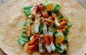 Buffalo Chicken salade Wraps