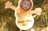 Lasergesneden Snowman Photo Ornament