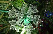Maken van een sneeuwvlok acryl