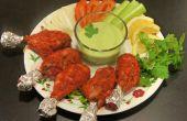 Tandoori kip In de Oven met koriander yoghurt Dip