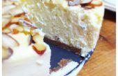 New York stijl Cheesecake met amandelen en een korst van Speculaas