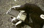 Mobiele telefoon voor gehandschoende handen of vette vingers