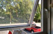 Tot vaststelling van een gebroken krukas op een venster luifel
