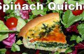 Hoe maak je spinazie en rode ui Quiche