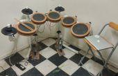 Zelfgemaakte elektronische drumkit