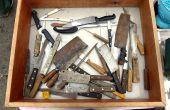 Herstel van de oude keukenmessen