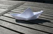 Maken van een drijvend boot uit papier
