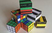 De verbazingwekkende papier puzzel doos: Rubiks kubus of kalender