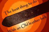 Het beste ding u met een oude lederen riem doen kunt