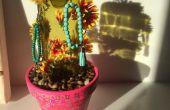 Wijn fles Cactus (of sieraden Hanger)