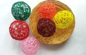 DIY decoratieve garens ballen