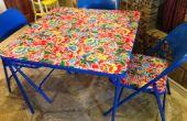 Ambachtelijke een nieuwe Crafting tabel; Upcycle Yucky oude kaart tafel