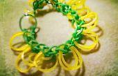Bloem van Rainbow Loom armband
