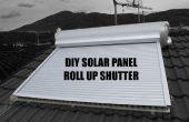 DIY solar panel oprollen sluiter (zonne-gordijn, tapparella solare)