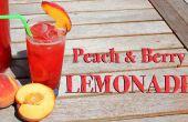 Perzik en Berry limonade