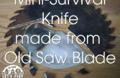 Mini Survival mes gemaakt van een oude zag Blade - Jimmy Diresta geïnspireerd