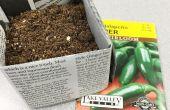 Biologisch afbreekbaar krant potten