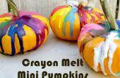 Kleurpotlood smelten Art Mini pompoenen