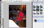 Ontwerpen van weefsel portretten/dekbedden met behulp van photoshop