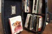 Boekenkast: Reizen boekenkast in een koffer!