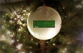 De Tweetball: Een kerst Ornament bal die toont uw vrienden twitter wensen
