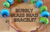Bubbly glas kralen armband
