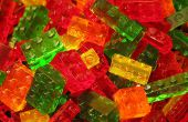 Lego baksteen vormige gummy snoepjes