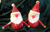 Een Christmas Santa sieraad voor je uw tabel, of gewoon voor de lol van het maken HO HO HO