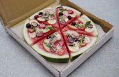Groenten en watermeloen Pizza