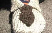 Brei 'Overhemd en stropdas' Slippers