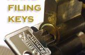 Van lege toetsen werkende sleutels zonder afbouw de sluis (met behulp van een handfile)