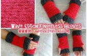 Wave Stitch vinger minder handschoenen – gratis haak patroon