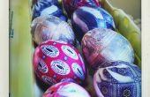 Silk eieren geverfd
