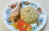 Het bereiden van heerlijke kip Biryani