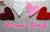 Hart Motif stoffen – vrije gehaakt patroon gehaakte