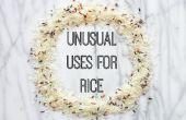 Ongebruikelijke toepassingen voor rijst