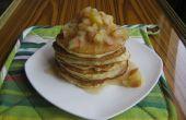 Karnemelk pannenkoeken met appelcompote en honing (gemaakt met ghee)