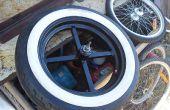 Brede fiets wiel hubs maken en het toevoegen van hen aan auto velgen!