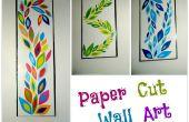 DIY papier knippen kunst aan de muur