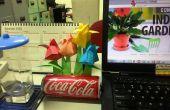 Origami tulpen tuin met kan Pot